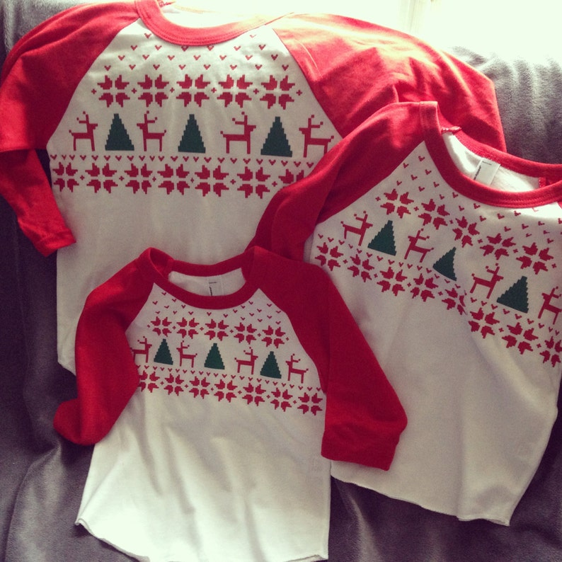 Kersttrui Familie.Familie Kerst Shirts Kerst Trui Stijl Shirts Fair Isle Etsy