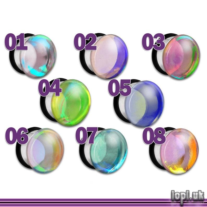 Clear Iridescent Flash Plug / Gauge 2g 1g 0g 00g 7/16 / image 0