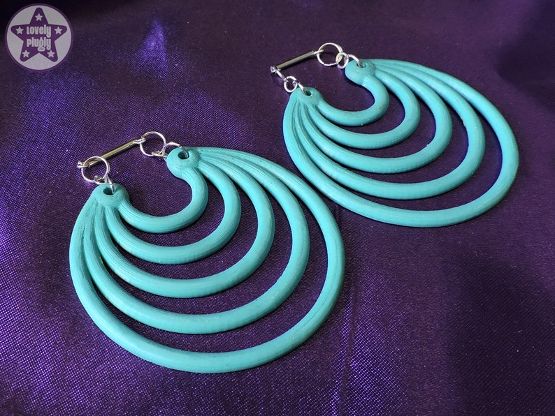 Teal Super Hoops Ear Weights 2g 0g 00g 12 716 916 58  6mm 8mm 10mm 11mm 12mm 14mm 16mm and over PAIR