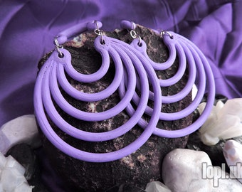 "Lilac Super Hoops Ear Weights Hangies PLA 0g 00g 1/2"" 7/16"" 9/16"" 5/8"" / 8mm 10mm 11mm 12mm 14mm 16mm and over PAIR"