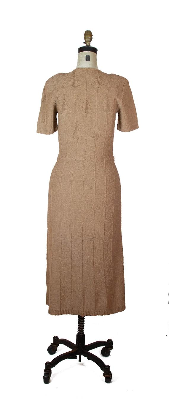 1940s Dress ~ Beige Snyder Knits Sweater Dress - image 7