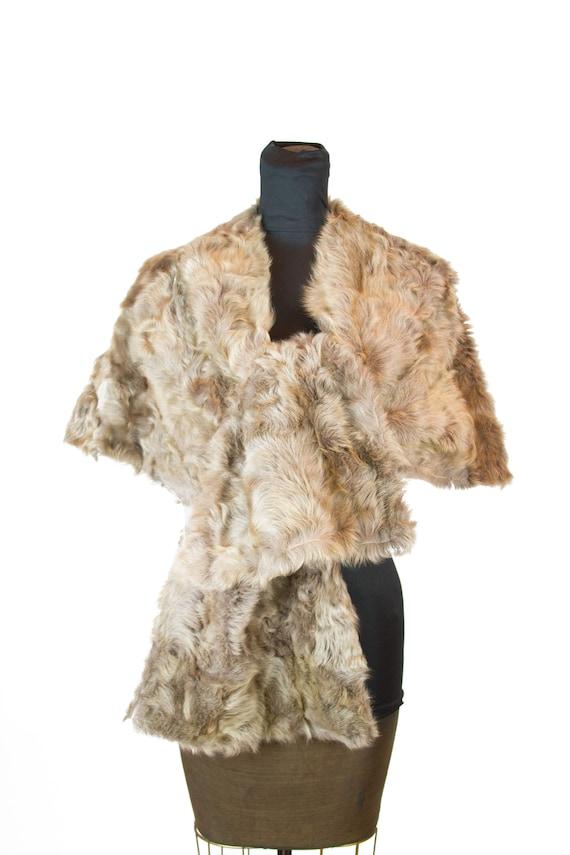 1950s Fur Stole ~ Honey Colored Lamb Fur Stole