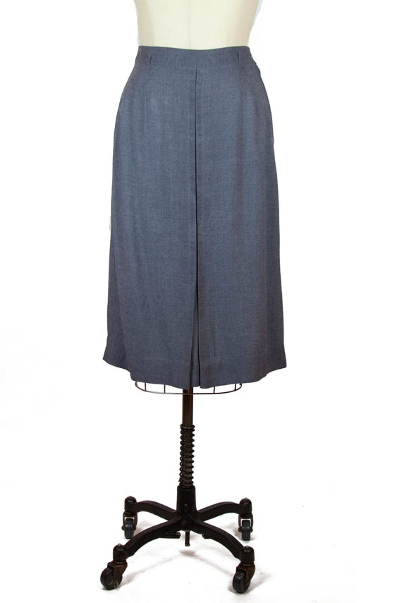 1940s Skirt ~ Grey Wool Pencil Skirt