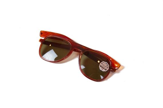 1940s Sunglasses ~ Aviator Amber Brown Faux Tortoi