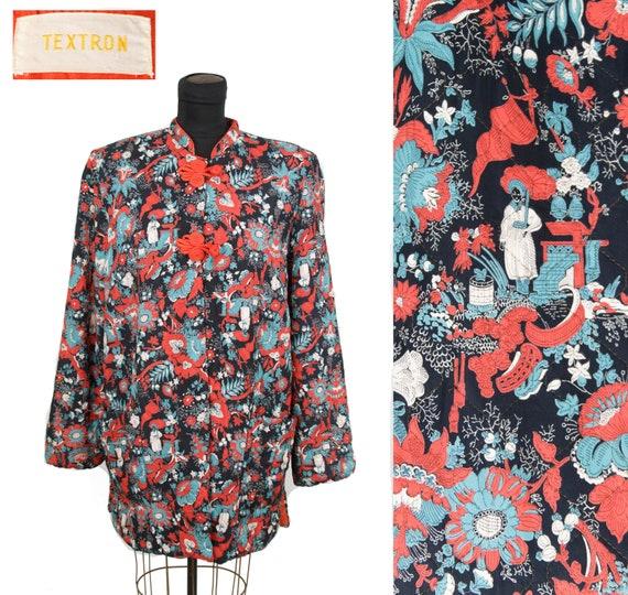 Vintage 1940s Jacket ~ Oriental Novelty Print Rayo