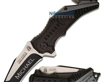 Husband gift Tactical Knife Wife to Husband gift Boyfriend gift Pocket Knife Anniversary gift Gifts for Him Mens gift Custom Knife Mens