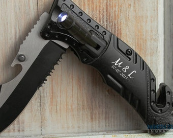 Tactical Knife, Hunting Knife, Engraved Knife, Husband gift, Mens Personalized, Personalized Knife Brother gift Boyfriend gift Bottle Opener