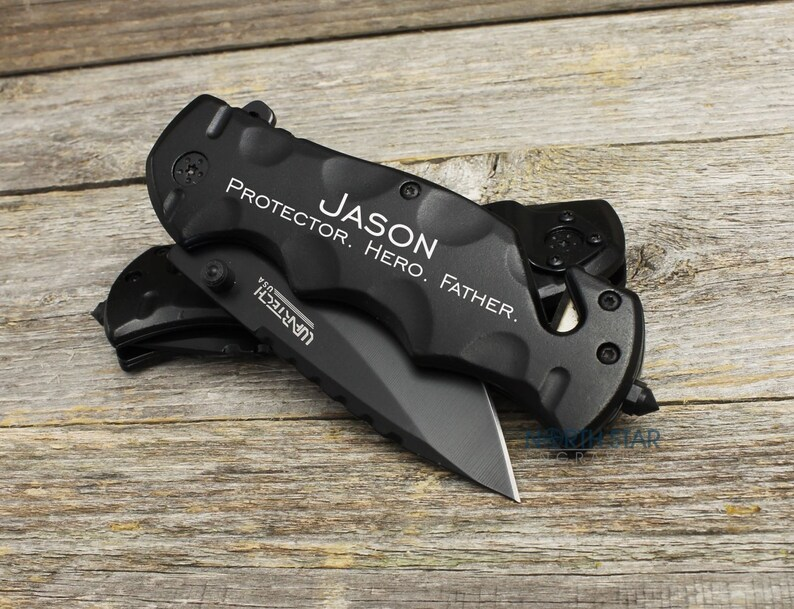 gifts for Him Personalized Pocket Knife Tactical Knife Anniversary gift Husband gift from wife gifts for Men Boyfriend Valentines gift