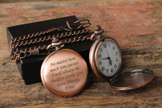 gifts for dad personalized watch mens personalized brides etsy