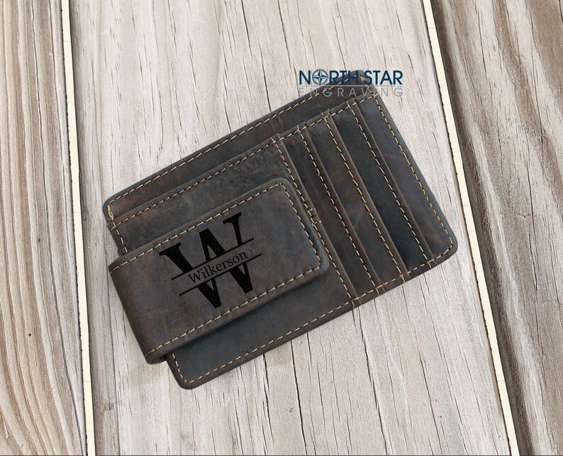 76685154b7ab Mens Leather Wallet Personalized Wallet Money Clip wallet | Etsy