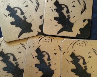 Marilyn 5 pc Coaster Set