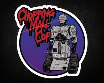 Chopping Mall Cop Sticker