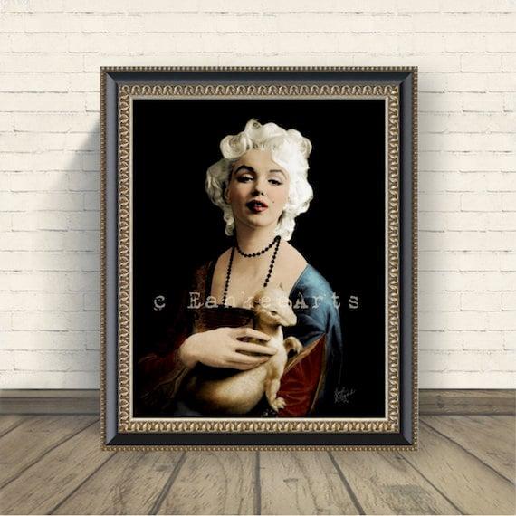 Marilyn Monroe Wall Art Poster Print Marilyn Monroe Decor   Etsy