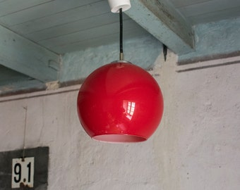 Globe Pendant Light // French 1960's Retro Lighting