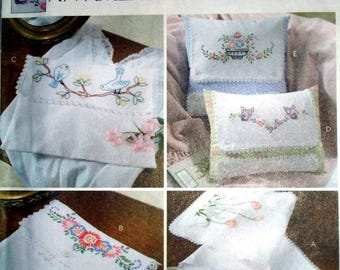McCall's 4544 - Embroidery Table Scarf - Pillow and Pouch