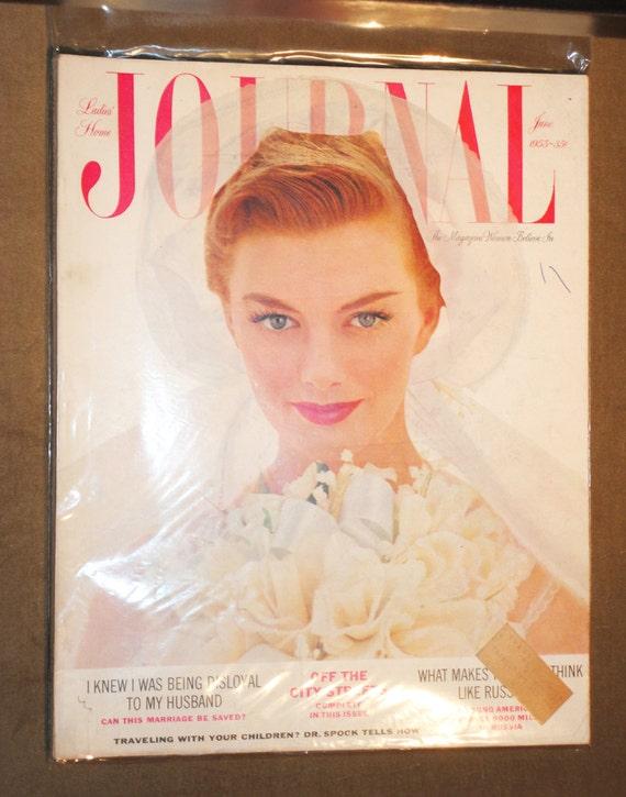 Rare Frameable Mid Century Magazine Ladies Home Journal June Etsy