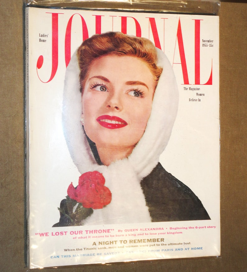 Rare Large Mid Century Magazine Ladies Home Journal November Etsy