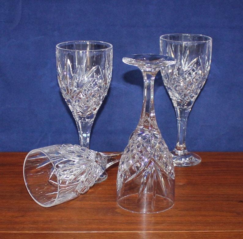 Vintage Set of 4 Godinger Dublin Wine Glasses  Water Goblets