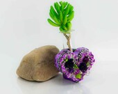 Heart Vase home decor handmade from polymer clay