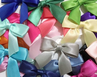 "12/24/48/100 Small 2"" Handmade Bows - Choose your color"