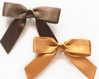 12/24/48/100 BROWN or GOLD Mini Handmade Bows