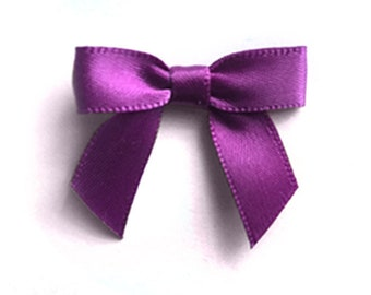 48 MINI PURPLE Pre-made Bows - Ready for crafting