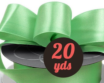 "Satin Seafoam Green Ribbon - 7/8"" wide at 20 yards"