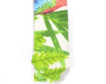 Red, Green textured tie, Wedding Mens Tie Skinny Necktie