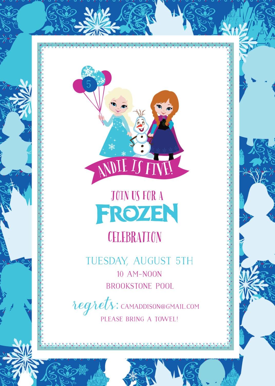 Frozen Birthday Invitation Frozen Printable Invitation   Etsy