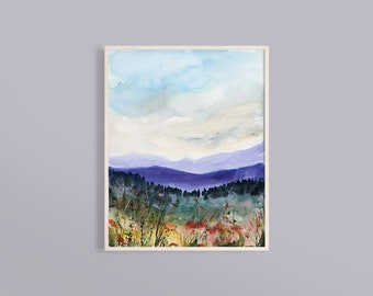 river Textured painting Home decor Abstract landscape Modern art Original Oil painting on canvas by Syzym Autumn colors North Quebec trees