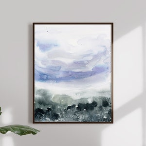 Abstract Landscape Contemporary Art Watercolor Print Modern Art Print Watercolor Landscape Landscape Art Abstract Art Print Lavender