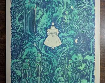 Marrow and Moonlight Riso Print