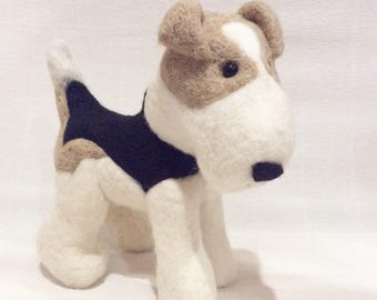 Needle Felted Fox Terrier