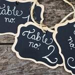 6 Fancy Wood Chalkboard Tags with Chalk Labels, Get Organized, Basket Labels, Chalkboard Tags, Rustic Wedding Chalkboard Signs