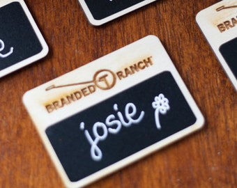 name tags for work etsy
