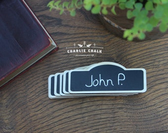 100 chalkboard name tags chalkboard name badges reusable etsy