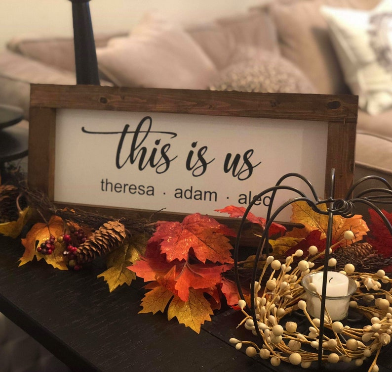 This Is Us Farmhouse Sign 5th Anniversary Gift Farmhouse image 0