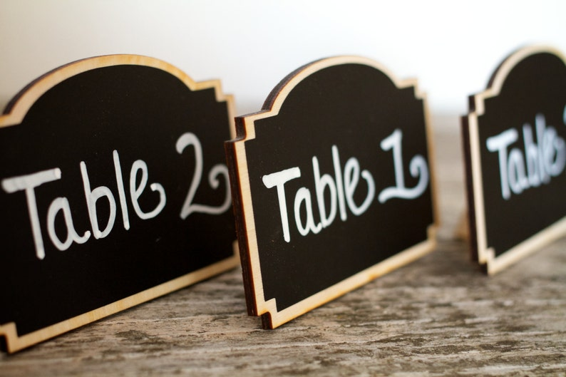 Small Chalkboard Wedding Signs Table Numbers Wedding Sign image 0