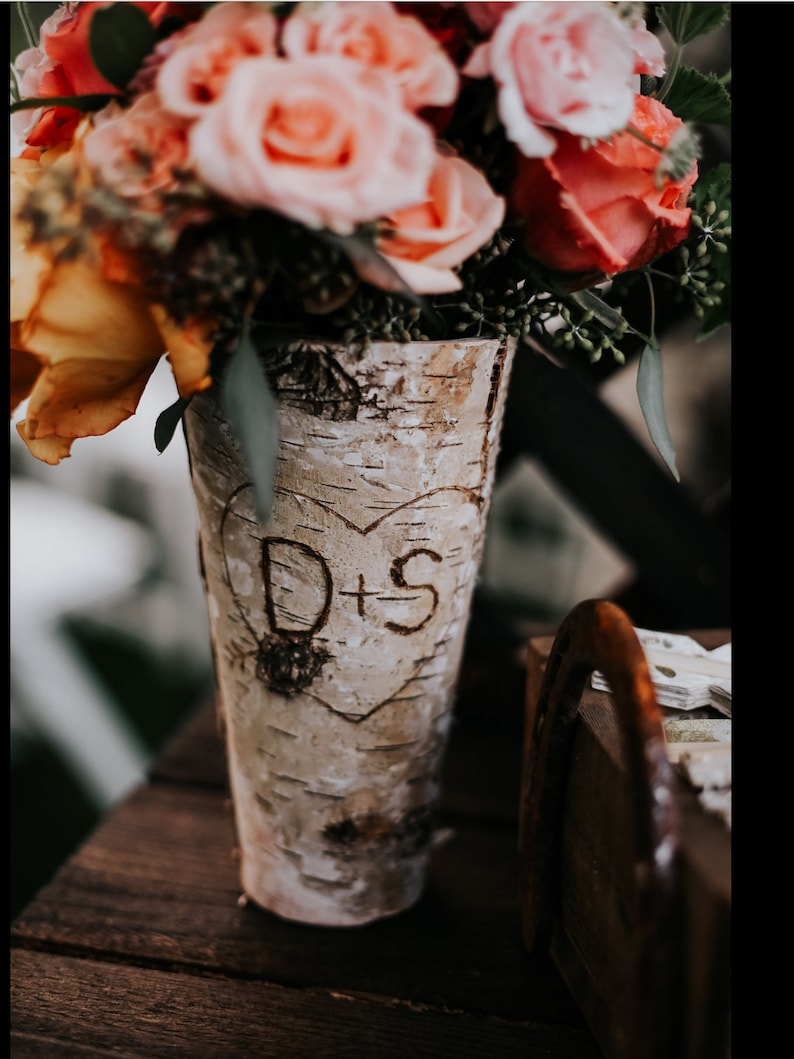 Bridal Shower Gift Wedding Decor Birch Vase Wedding Gift image 0