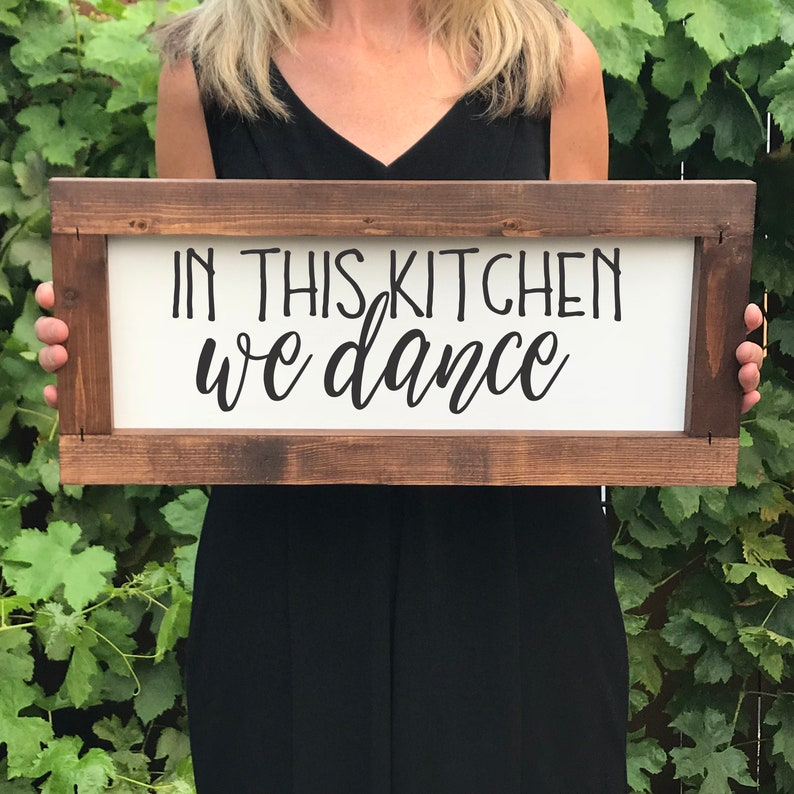 In this Kitchen We Dance Farmhouse Sign Christmas Gift for image 0