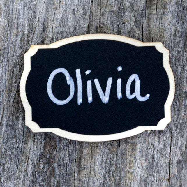 6 rectangle chalkboard name tags with magnetic backings corporate