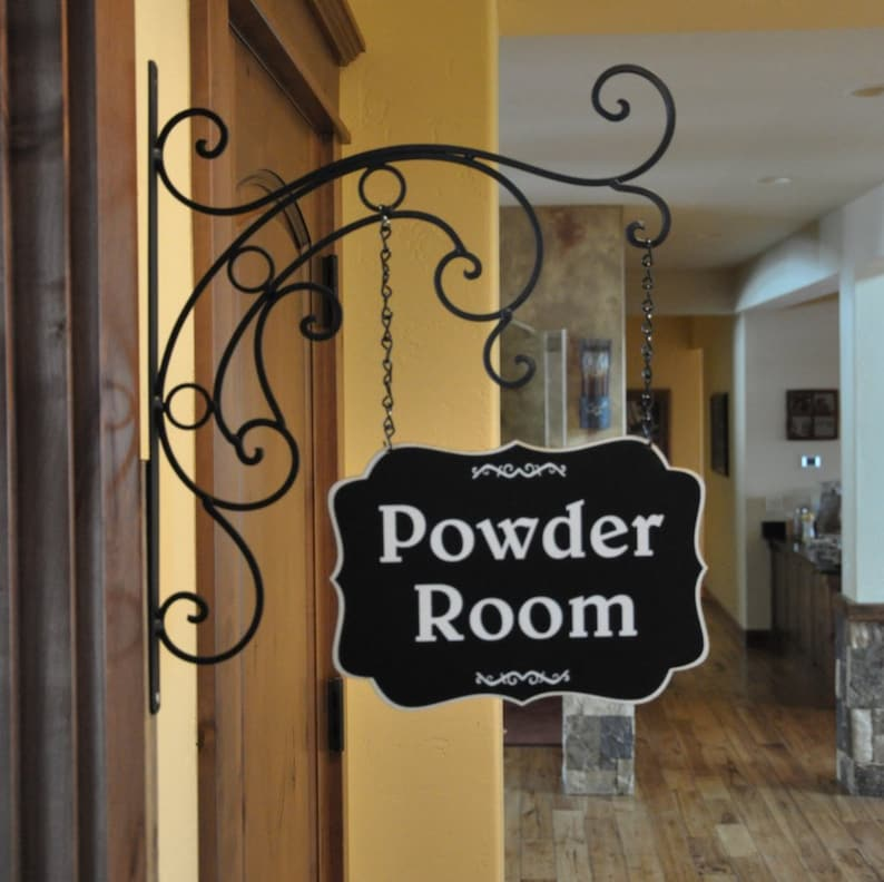 Powder Room SignLaundry Signs Gift for HerKitchen SignHome image 0