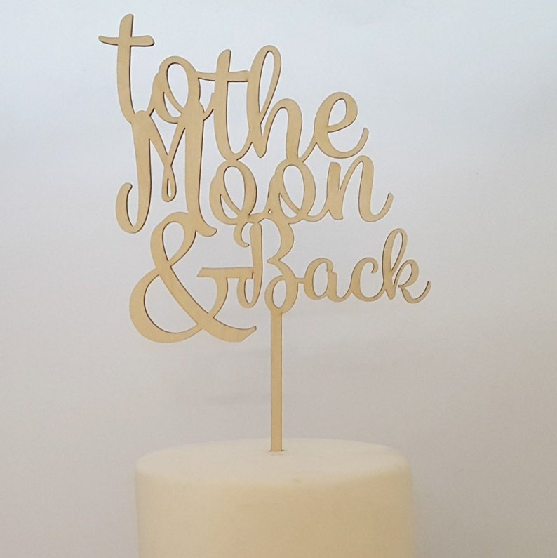Love You To The Moon And Back Baby Shower Decorations image 0