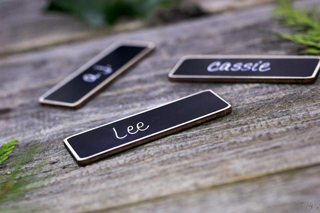 Work Name Tags, Business Name Tags, 50 Chalkboard Name Tags