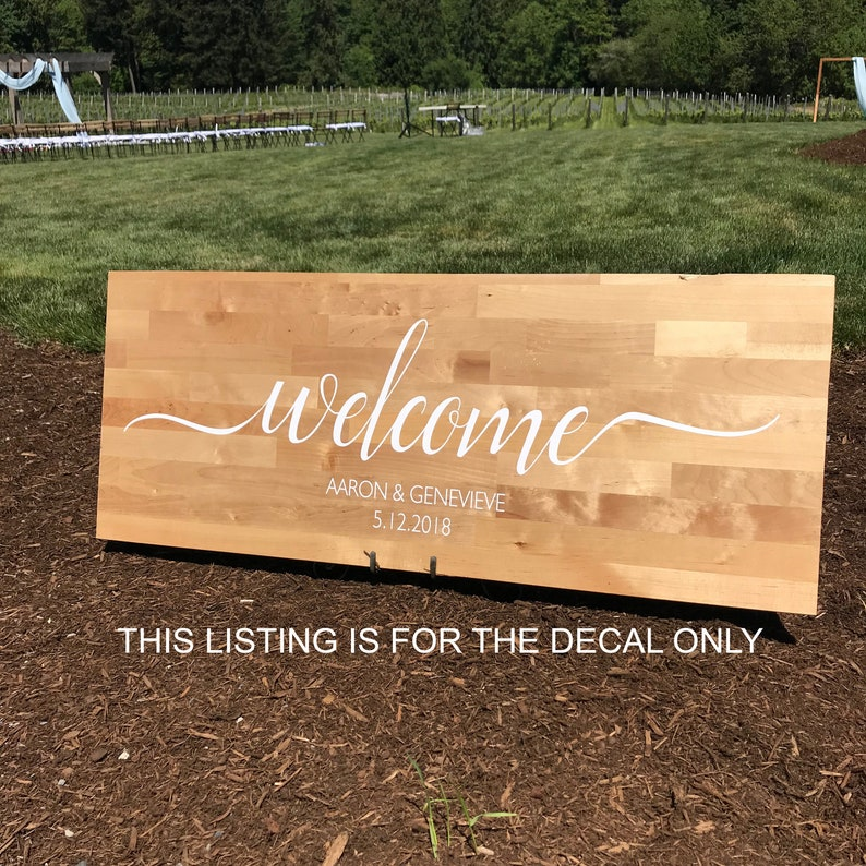 Welcome to our Wedding Decal Rustic Wedding Decals Wedding image 0
