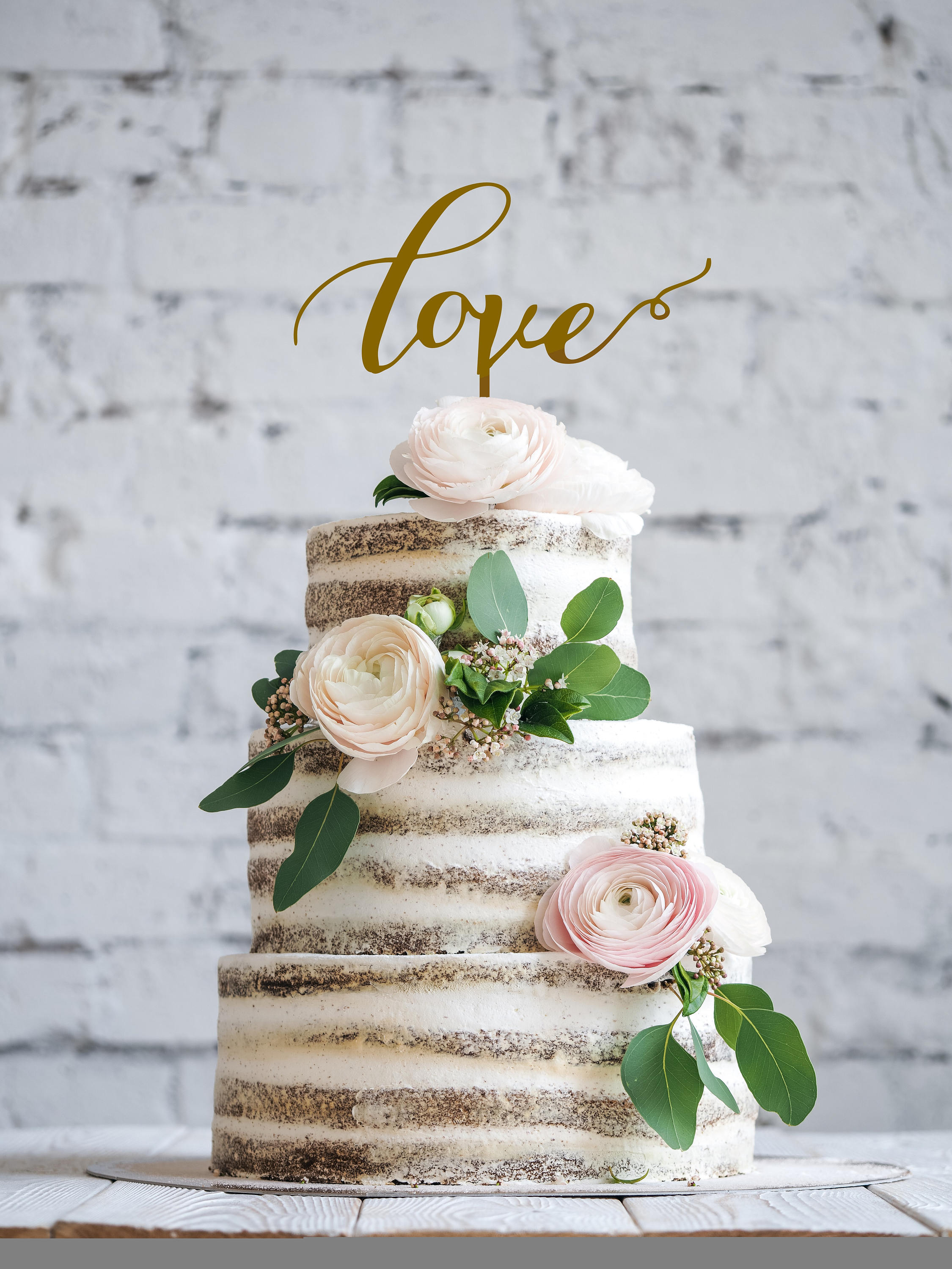 LOVE Wedding Cake Topper GOLD Cake Toppers for wedding