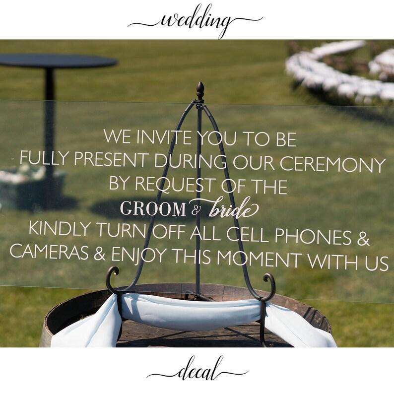 Unplugged Ceremony Sign Unplugged Wedding Signs Wedding image 0