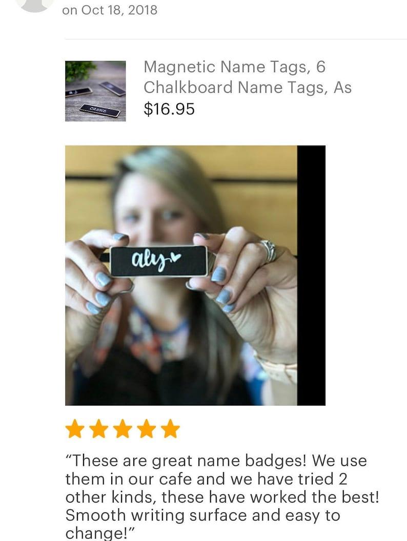 100 Chalkboard Name Tags Chalkboard Name Badges Reusable image 0