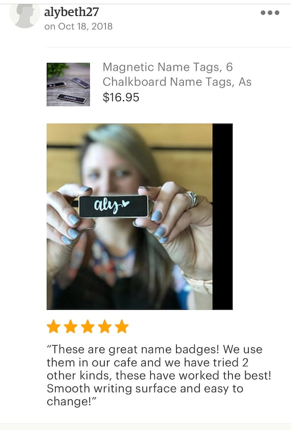 work name tags business name tags 50 chalkboard name tags etsy