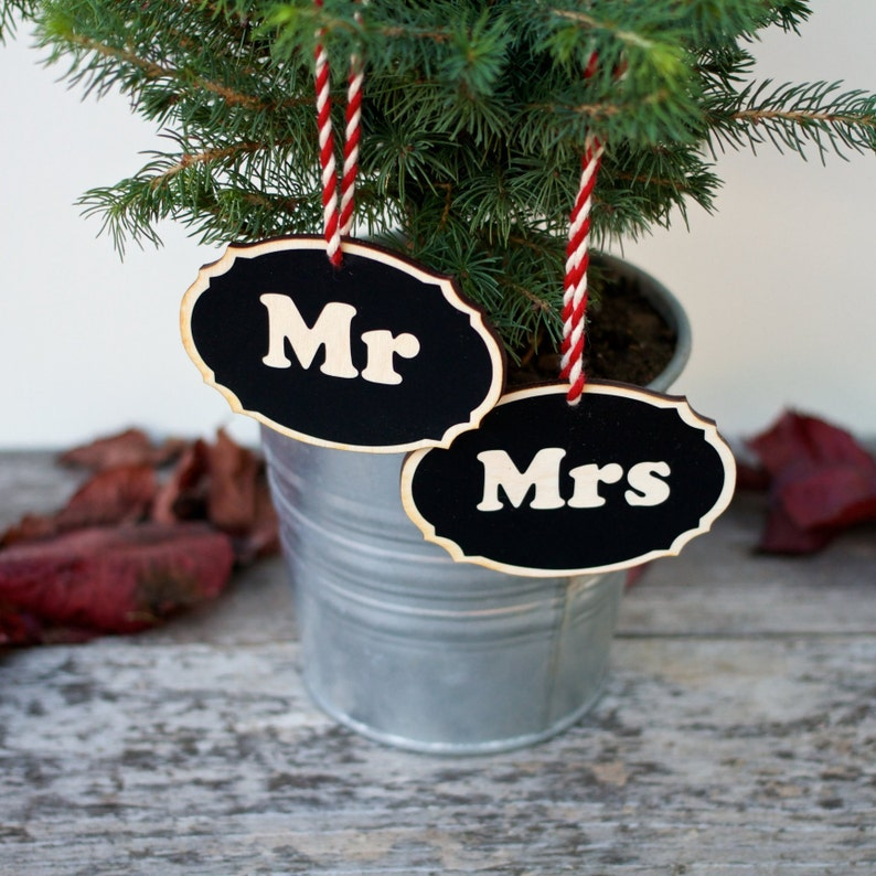 Personalized First Christmas Ornaments Rustic Holiday image 0
